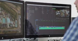 Videobearbeitung der Drohnenaufnahmen