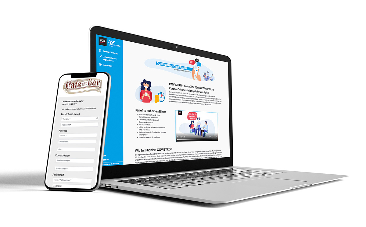 Übersicht Covistro Webapp